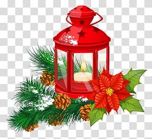 Lentera lilin, Lentera kertas Lilin Natal, Lentera Natal Merah png
