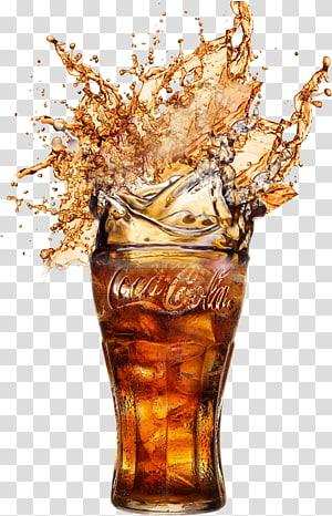 Coca-Cola Zero Soft drink Diet Coke, Coca Cola, Coca-Cola soda dengan es dalam gelas minum PNG clipart