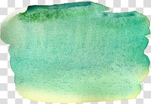 tekstil putih dan kuning, Lukisan Cat Air Pena Biru, efek cat air Biru PNG clipart