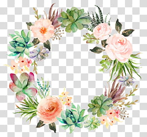 Undangan pernikahan Kertas Lukisan Cat Air Karangan Bunga Tanaman sukulen, Karangan bunga halus, Ilustrasi karangan bunga berwarna-warni png