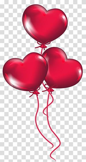 ilustrasi balon jantung merah, Hari Valentine Jantung, Balon Jantung png