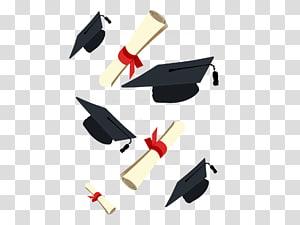 Upacara Wisuda Lapangan akademik topi, topi Dr., wisuda, topi kelulusan dan ilustrasi diploma png