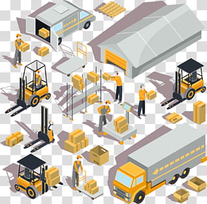 ilustrasi stiker konstruksi abu-abu-dan-hitam, Industri Logistik Gudang Euclidean, logistik gudang yang dilukis dengan tangan png