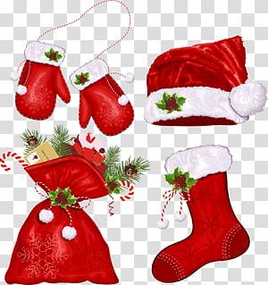 ilustrasi topi Natal merah, Simbol Natal Santa Claus, Natal Kreatif png