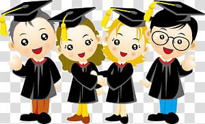 Kartun Wisuda, Musim kelulusan orang, beberapa ilustrasi lulusan baru png