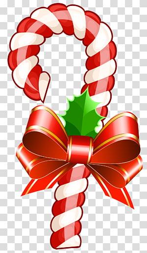 Permen tongkat Natal Tongkat permen Pita permen, Tongkat Permen Natal Besar, permen tongkat dengan ilustrasi busur png