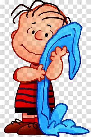 anak laki-laki memegang ilustrasi tekstil biru, Linus van Pelt Snoopy Charlie Brown Sally Brown Peppermint Patty, charlie brown png