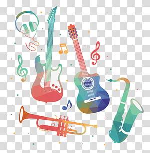 ilustrasi alat musik, bisnis musik Pendidikan musik Musik industri Musik gratis, Elemen Musik Cat Air png