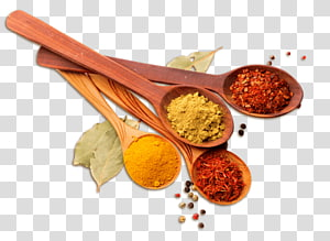 rempah-rempah di sendok, masakan India. Campuran rempah Cabai bubuk, SPICES png