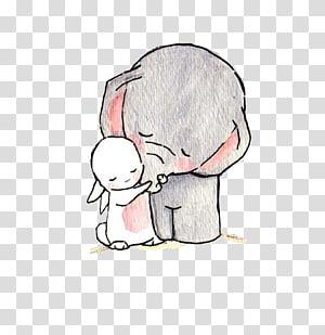 ilustrasi gajah dan kelinci, New York City Drawing Wish Thread Doodle, Elephant and kelinci png