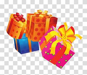 empat hadiah berbagai macam warna, Ribbon Gift Orange S.A. Happiness, Gift png