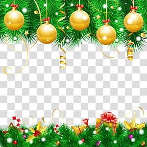 emas perhiasan Natal, hiasan Natal hiasan Natal pohon Natal, Dekorasi Natal PNG clipart