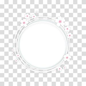 bunga putih bulat, bunga sakura, bingkai bawah Sakura png
