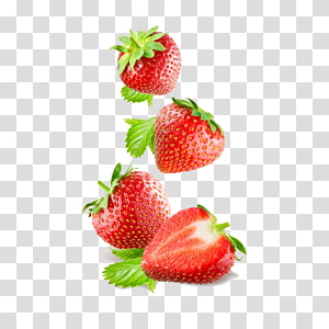 empat stroberi, Jus Smoothie Strawberry, Makan Frutti di bosco, Strawberry PNG clipart