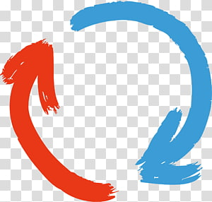 ilustrasi seni panah merah dan biru lingkaran, Arrow Euclidean, panah png