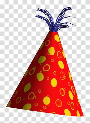 topi pesta merah dan kuning, Ikon topi pesta, Topi Ulang Tahun png