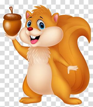 Buku mewarnai Amazon.com, Icy the Iceberg Child, Cute Squirrel with Acorn Cartoon, tupai yang memegang ilustrasi kacang png