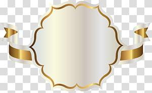 Pita, Label Putih dengan Pita Emas, ilustrasi pita putih dan emas png