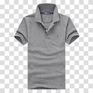 grey Polo oleh Ralph Lauren polo shirt, T-shirt Polo shirt Collar, Kaos Pria png