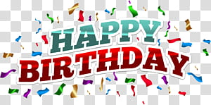 Kue ulang tahun, Ulang Tahun Berwarna-warni, teks selamat ulang tahun dengan latar belakang biru png