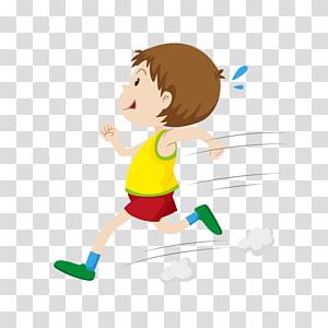 ilustrasi boy running, Ilustrasi Flashcard, Running boy PNG clipart
