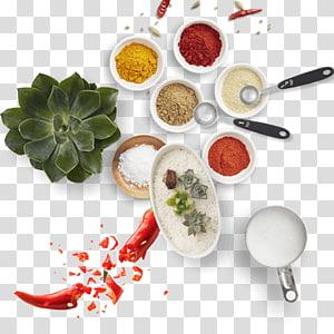 beberapa macam rempah-rempah, Alat Dapur Bahan Bumbu Makanan, Bahan dan peralatan dapur png