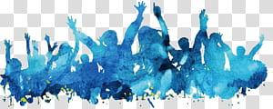 Lukisan cat air Poster Biru, Orang latar belakang bahan poster cat air biru, teal dan biru png
