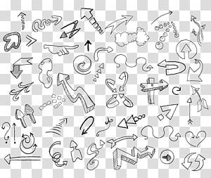 berbagai macam ilustrasi, Menggambar Sketsa Doodle, Sketsa panah png