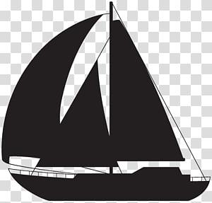 ilustrasi siluet perahu layar, Kapal layar Rigging perahu es, Siluet perahu layar png