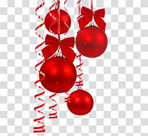 ilustrasi perhiasan merah, dekorasi Natal pohon Natal, dekorasi Natal Merah bola Natal png