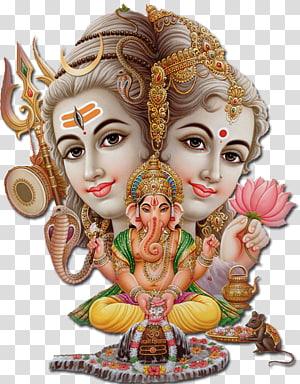 Shiva Parvati Ganesha Hindu, Dewa Siwa, ilustrasi Ganesha png