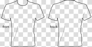 Kaos Jari Kaos Tanpa Lengan Putih, Kaos Templat, ilustrasi kaos depan dan belakang png