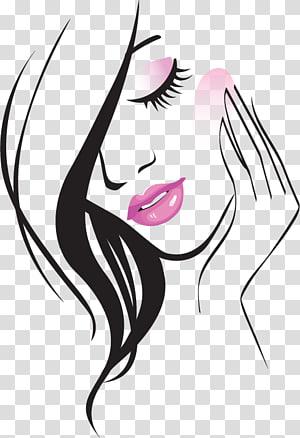 Salon Kecantikan Konten gratis, Garis kecantikan yang dilukis dengan tangan, ilustrasi wanita png