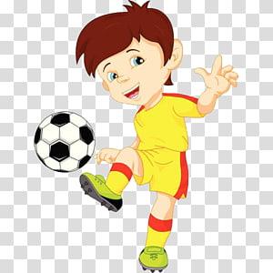 anak laki-laki bermain ilustrasi bola, Ilustrasi pemain sepak bola, Anak lelaki tampan PNG clipart