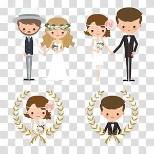 Ilustrasi pengantin, Undangan pernikahan Kue pengantin mempelai, Angka-angka pasangan pernikahan kreatif PNG clipart