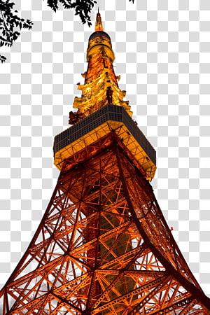 Menara Tokyo Taman Odaiba Ueno Ku0131zu0131l Kule, Night Tokyo Tower png