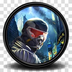 pria berjas baju hitam dan kacamata hitam, perlengkapan pelindung pribadi helm, Crysis 2 6 png