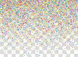 Ilustrasi Confetti Euclidean, confetti yang dilukis dengan tangan, partikel titik kuning, merah, dan hijau png