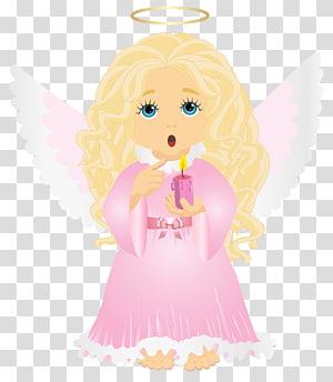 ilustrasi kerub, Ilustrasi Kartun, Malaikat Pirang Lucu dengan Lilin png