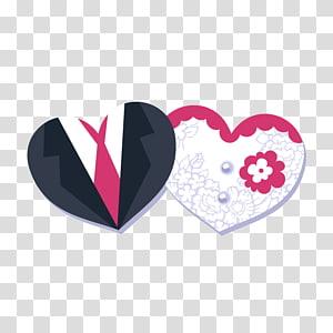 Templat Undangan Pernikahan, Bentuk Hati, Pengantin, latar belakang dekoratif, ilustrasi dua hati png