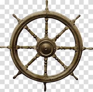 roda kapal coklat, Roda kapal Boat Rudder, Boat rudder png
