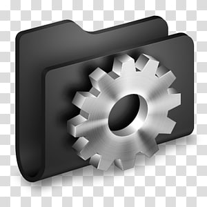 ilustrasi gigi abu-abu, sudut aksesori perangkat keras, Folder Hitam Pengembang png