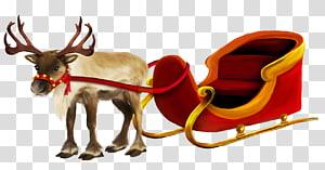 Rudolph si Rusa Hidung Merah, Rusa Natal dan Giring, rusa abu-abu yang membawa Giring Santa png