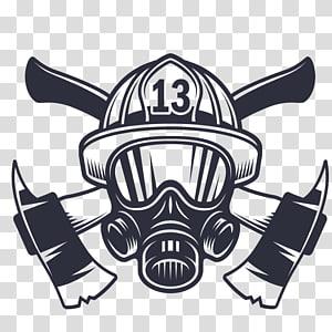 topeng pemadam kebakaran dengan ilustrasi logo kapak, helm Pemadam Kebakaran Logo departemen Pemadam Kebakaran, api akan ditandai png