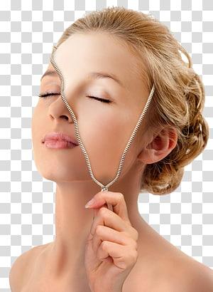 Masker Wajah Kosmetik Kecantikan Rhytidectomy, Kecantikan Kosmetik, diedit wanita ritsleting warna kulit PNG clipart