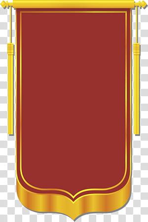 Banner CorelDRAW, materi templat Banner, aplikasi permainan tebak logo merah dan kuning png