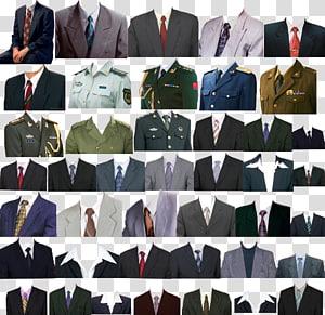 kolase setelan berbagai macam warna, T-shirt Dasi seragam militer, Berbagai paspor seragam pakaian png