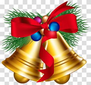 lonceng emas, lonceng Jingle Natal, Lonceng Natal dengan Bola Natal png