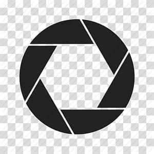 hitam logo browser Google Chrome, Lens rana Aperture, Lens s png