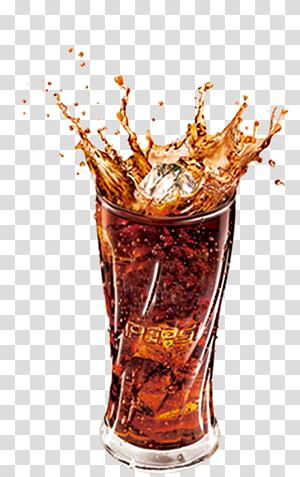 gelas minum Pepsi bening dengan percikan ilustrasi cola dan es batu, Minuman ringan Coca-Cola Cocktail Martini Pepsi, minuman Cola PNG clipart